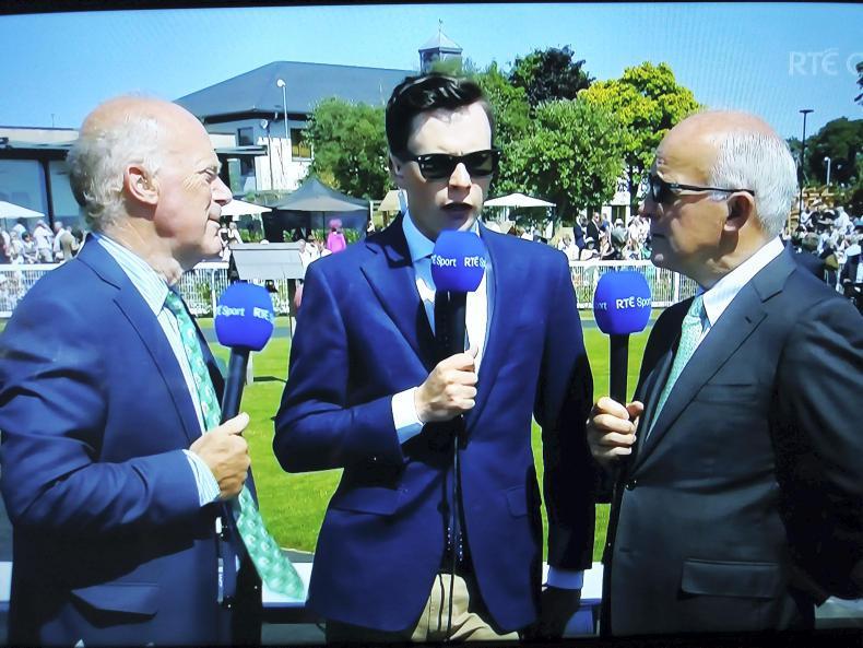 DUBAI DUTY FREE IRISH DERBY:  Saxon and the TV in the shade