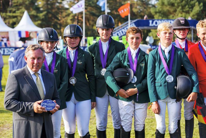 SHOW JUMPING:  European Championships silver medal win for Ireland