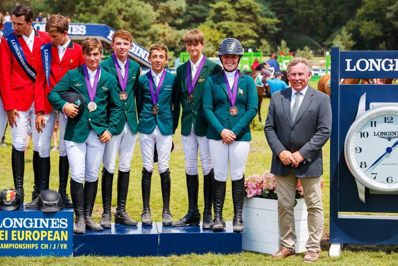 Junior show jumping team claim European bronze medal