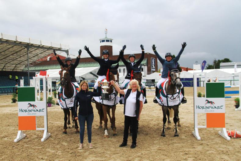 DUBLIN HORSE SHOW:  Killossery wins second team title
