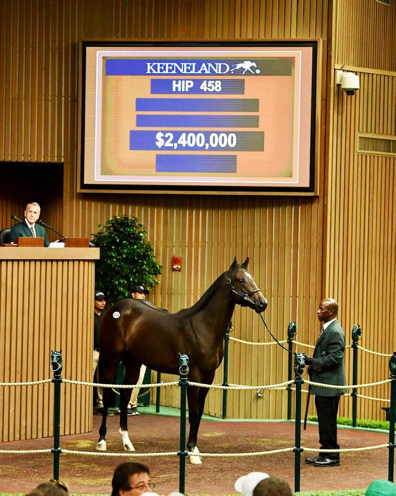 VIDEO: M.V. Magnier spends $2.4 million on War Front colt