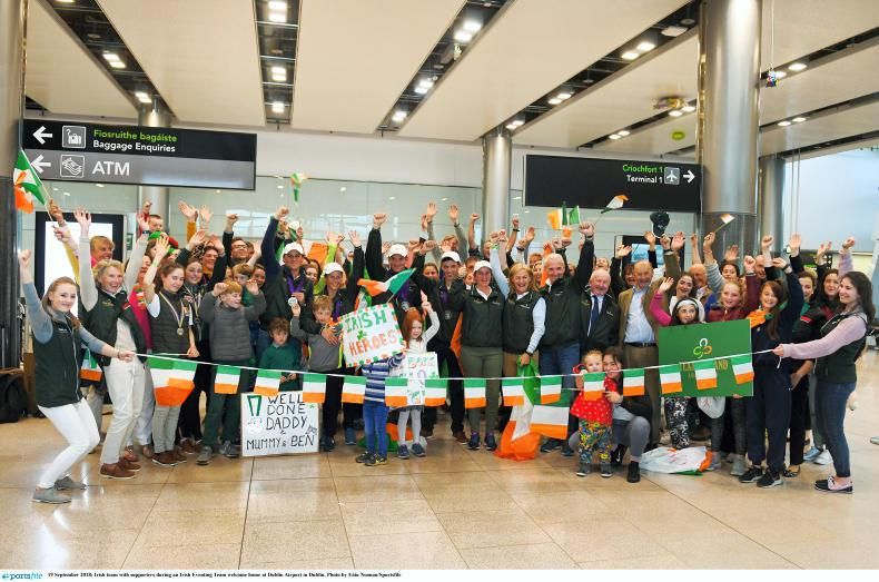 NEWS:  Triumphant team arrive at Dublin Airport