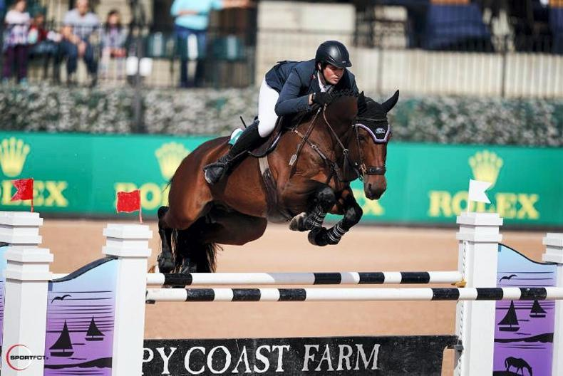 SHOW JUMPING:  O'Brien off to flying start at five-star Tryon
