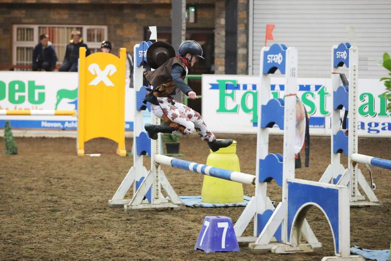 PONY RIDER:  Up and over for Colm!