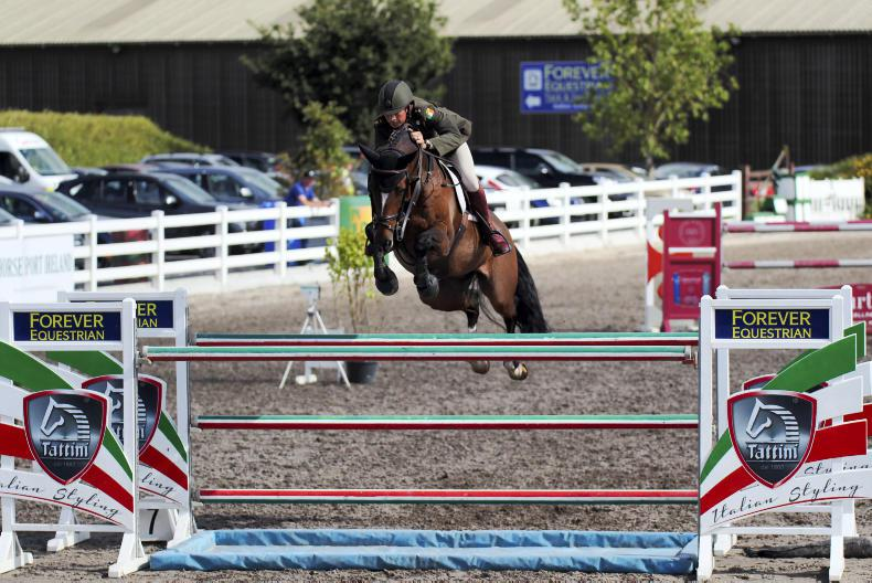 THE OWNER: Army Equitation School - representing the flag