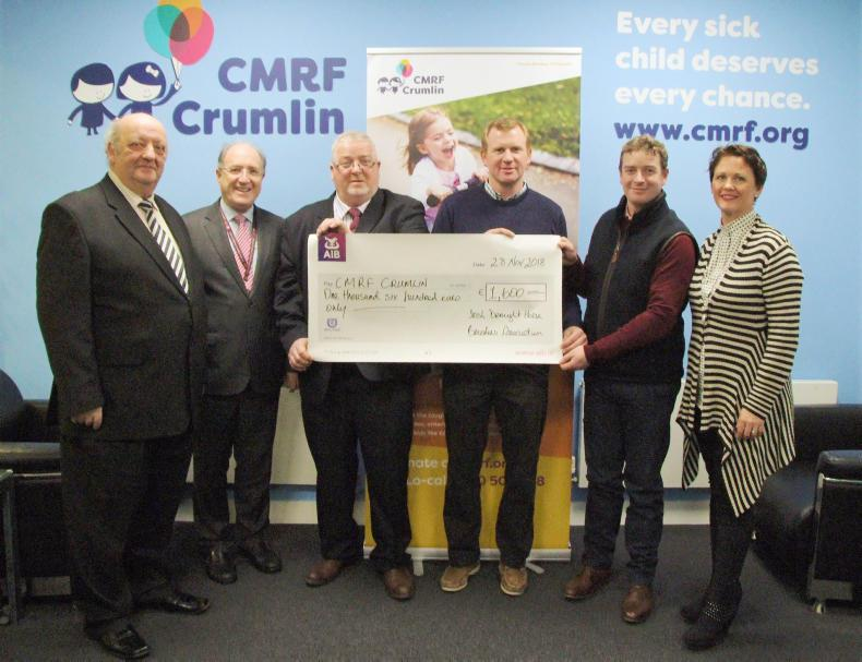 NEWS:  IDHBA presents cheque to Crumlin Hospital