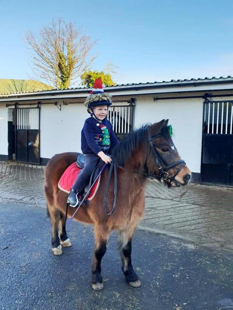 PONY TALES:  Santa Claus visits Clarina Equestrian!
