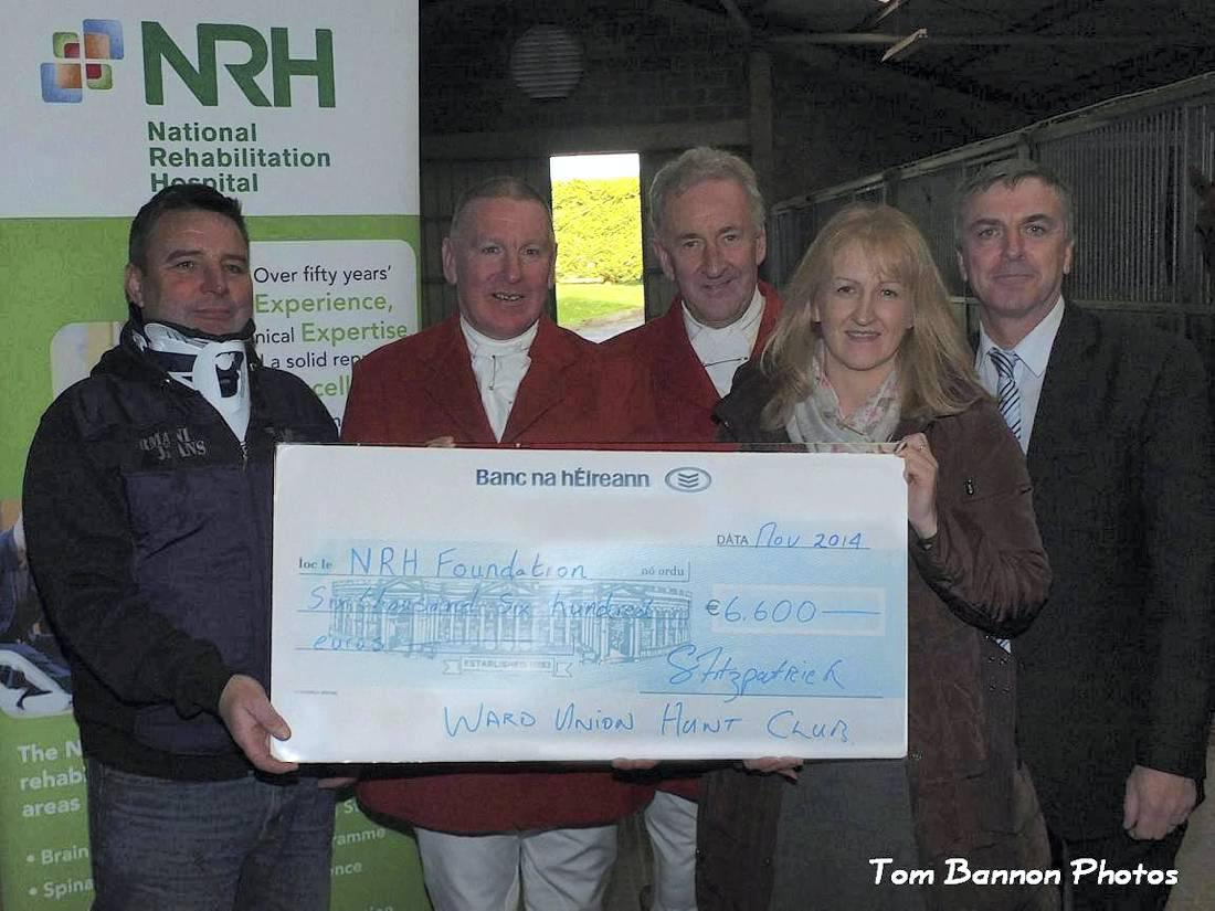 Ward Union Hunt presents hefty cheque