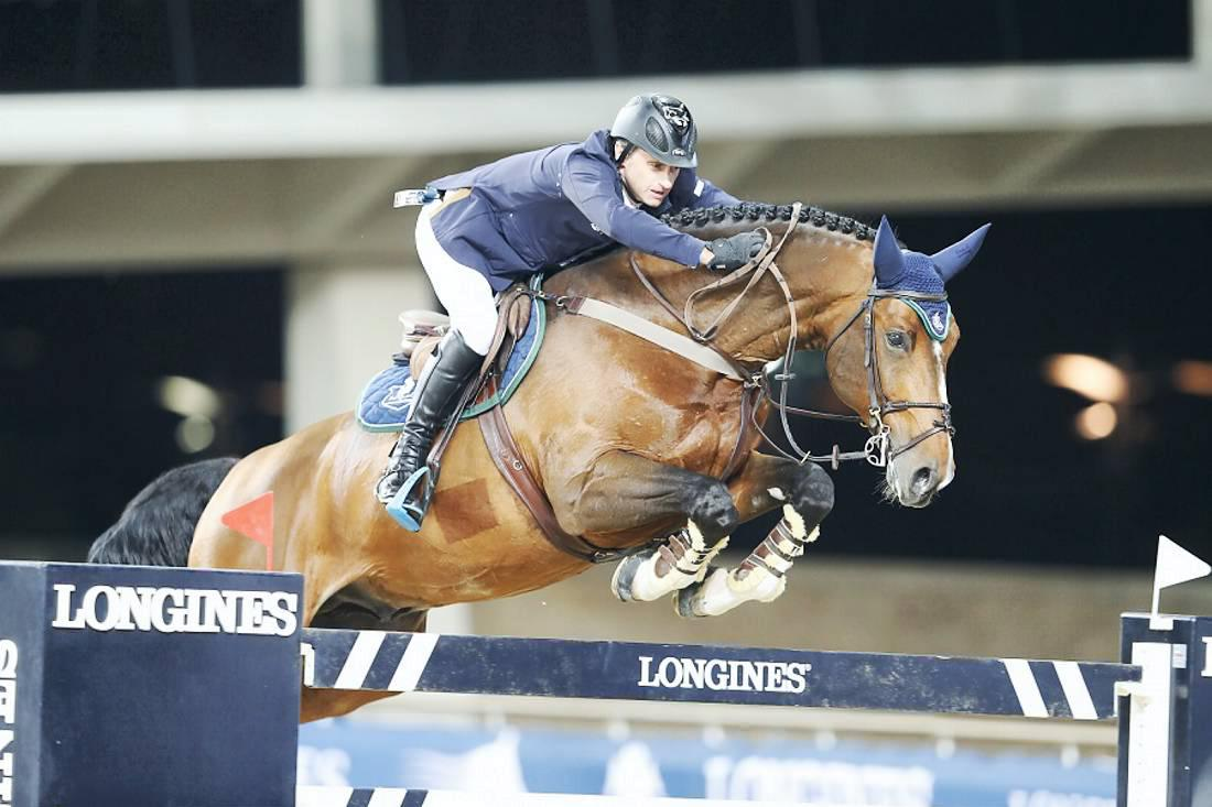 Denis Lynch goes close in Doha jump-off