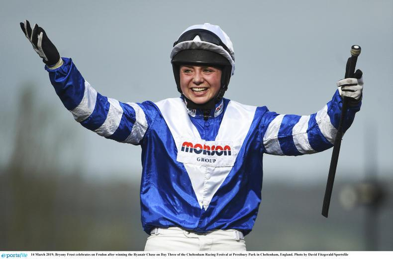 Bryony Frost makes history with fabulous Frodon triumph