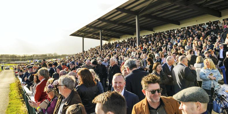 VIEW FROM ABOVE: Downpatrick draws a massive crowd