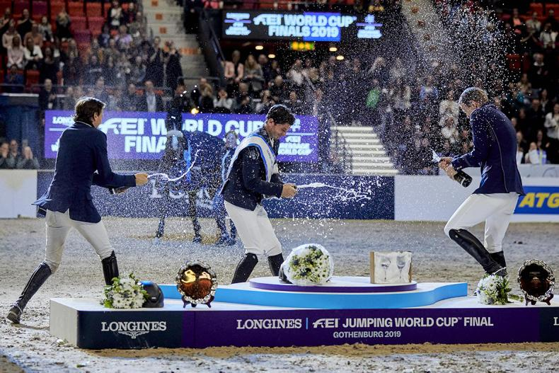 SHOW JUMPING:  Guerdat holds his nerve to take third World Cup title