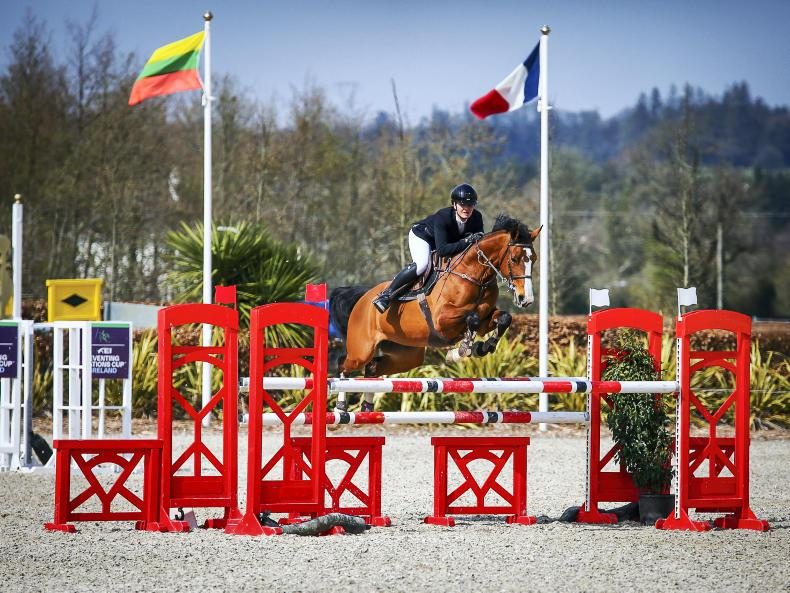 MILLSTREET WELCOME TOUR:  Jubilant Burke leads the way with Faluna