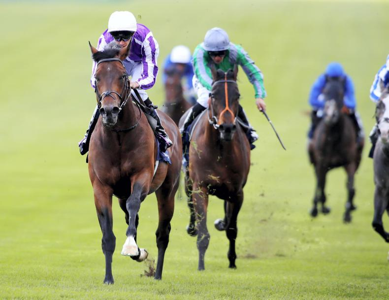 BRITAIN: Grecia grabs Guineas glory