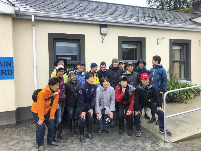 PARROT MOUTH: Japanese racing visitors tour Ireland