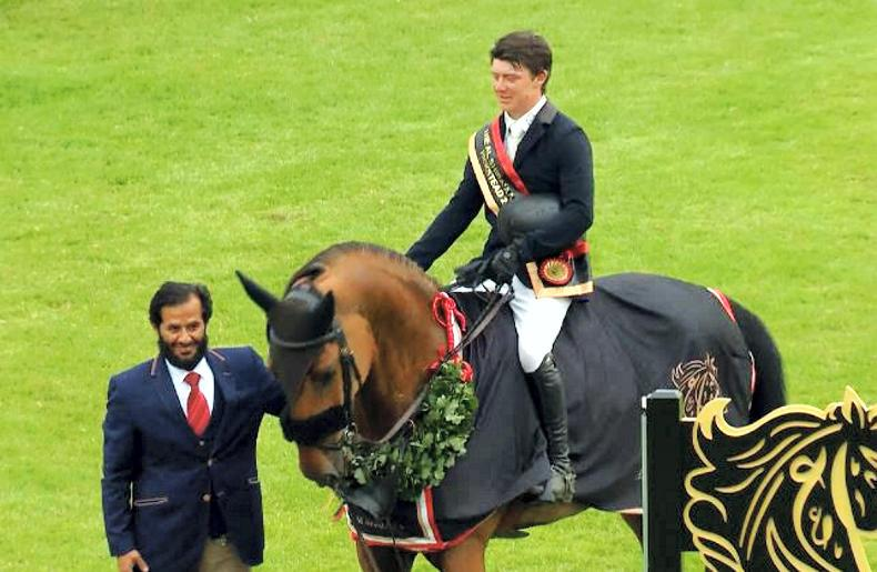 SHOW JUMPING: Michael Pender becomes youngest ever winner of the Hickstead Derby