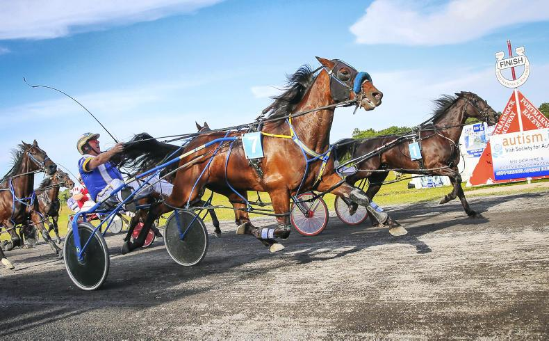 HARNESS RACING: Stewart swoops late for Courage win