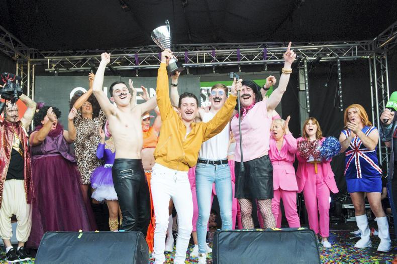 PARROT MOUTH: Jockeys in sync in Kildare battle