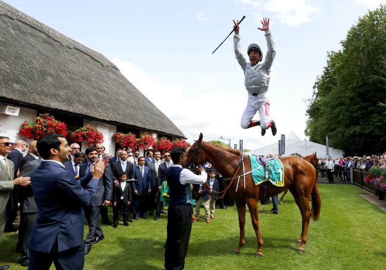 BRITAIN: Raffle Prize wins battle of Ascot heroines