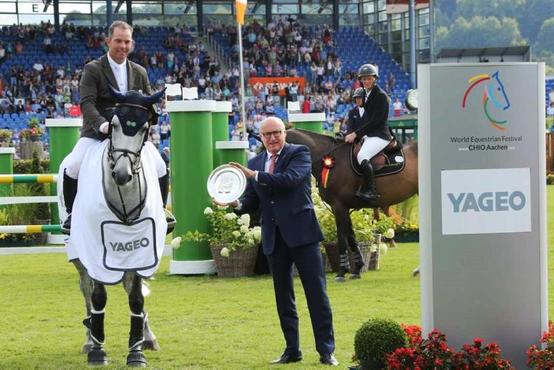 SHOW JUMPING: O'Connor completes Aachen speed hat-trick
