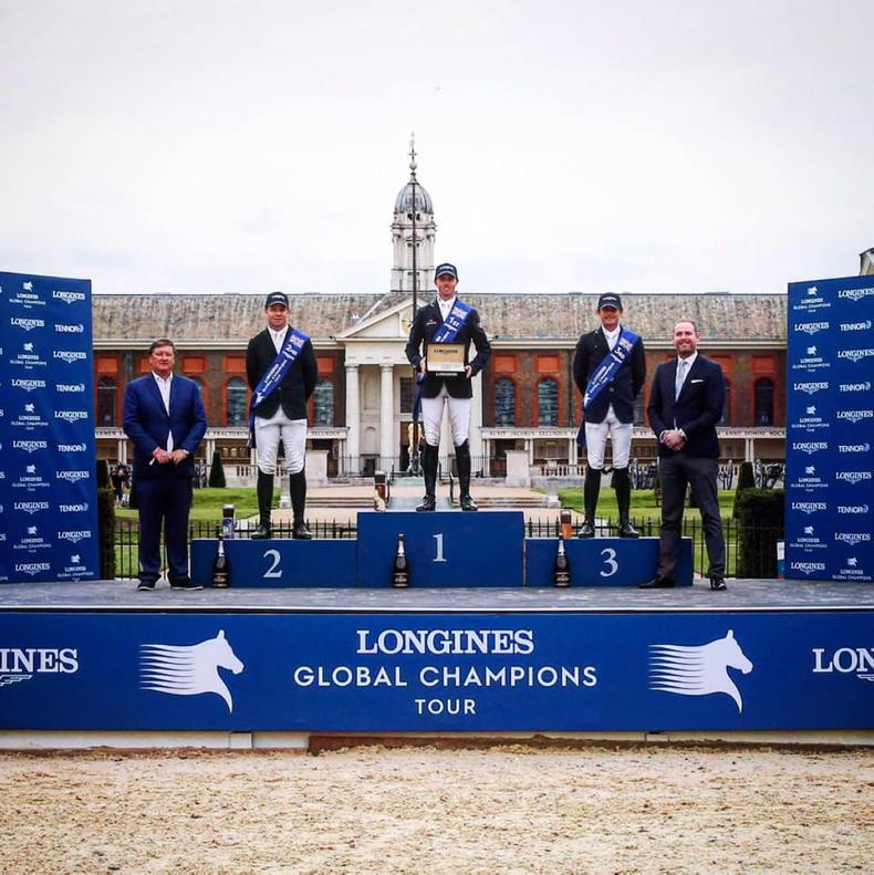 SHOW JUMPING: Sweetnam and Kenny make the podium at London's GCT Grand Prix
