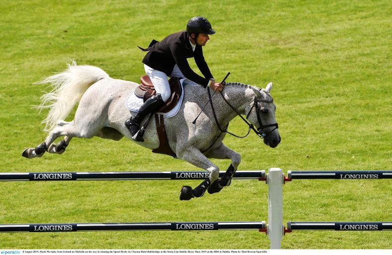 DUBLIN HORSE SHOW: McAuley lands Speed Derby as Irish team gear up for Aga Khan