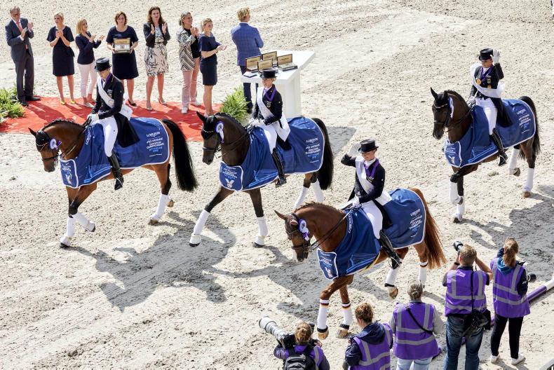 DRESSAGE:  Germans win gold at Rotterdam