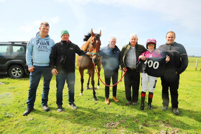 HORSE AND PONY RACING: 100 up for Ewing at Geesala