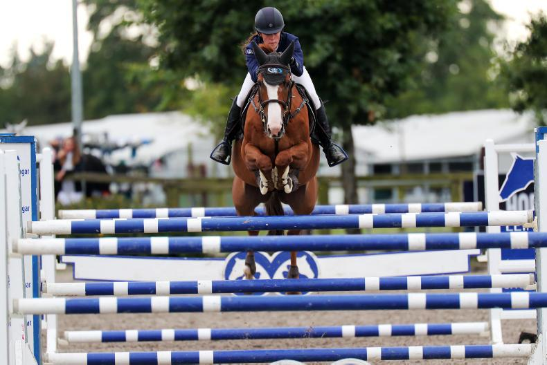 SHOW JUMPING:  Pony riders go all out for ribbons