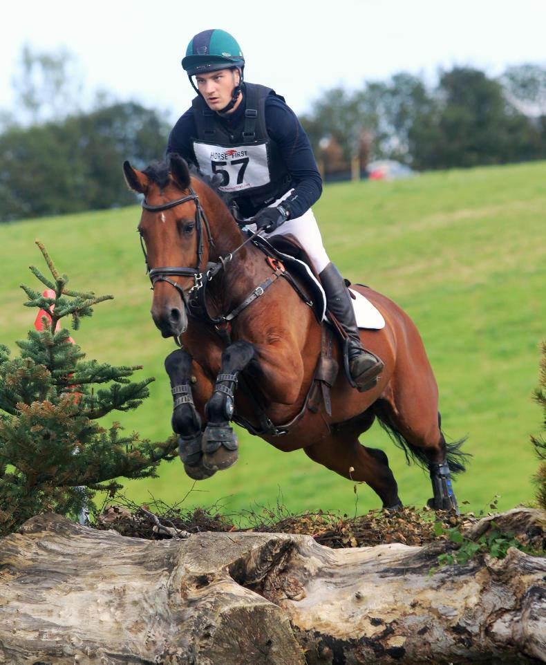 EVENTING:  Buchanan (100) leads from the front