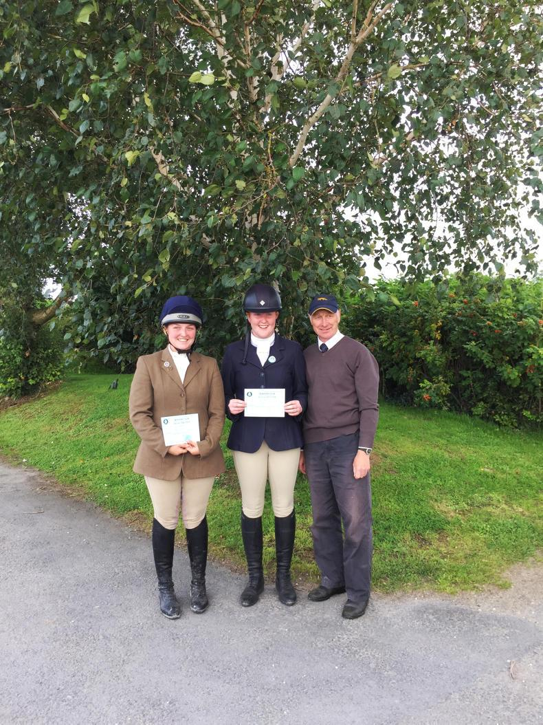 IRISH PONY CLUB:  Top marks for Whyte and Madigan