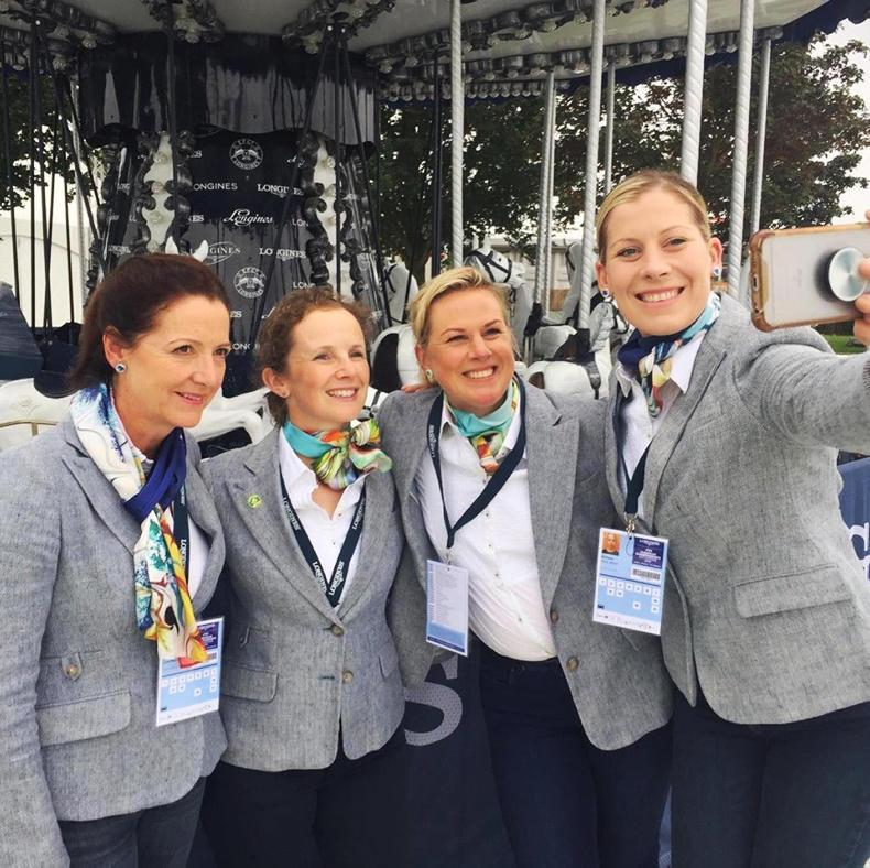 PONY TALES:  'Girls in Green' attend dressage gala