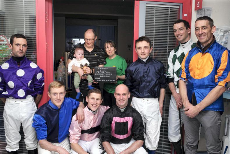 Top jockeys visit children in hospital