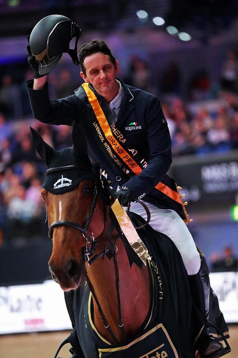 SHOW JUMPING: Billy Twomey completes hat-trick of Liverpool Grand Prix wins