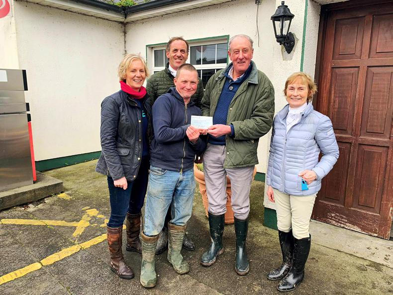 PONY TALES:  Hunt presents €1,500 cheque