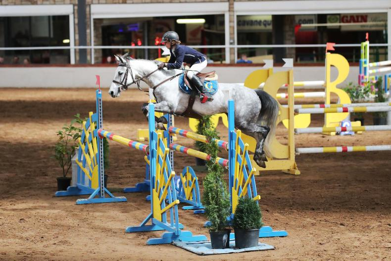 SHOW JUMPING:   Pony riders vye for top placings