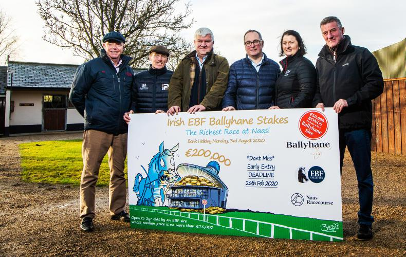 HRI commits to boosting €200,000 race at Naas