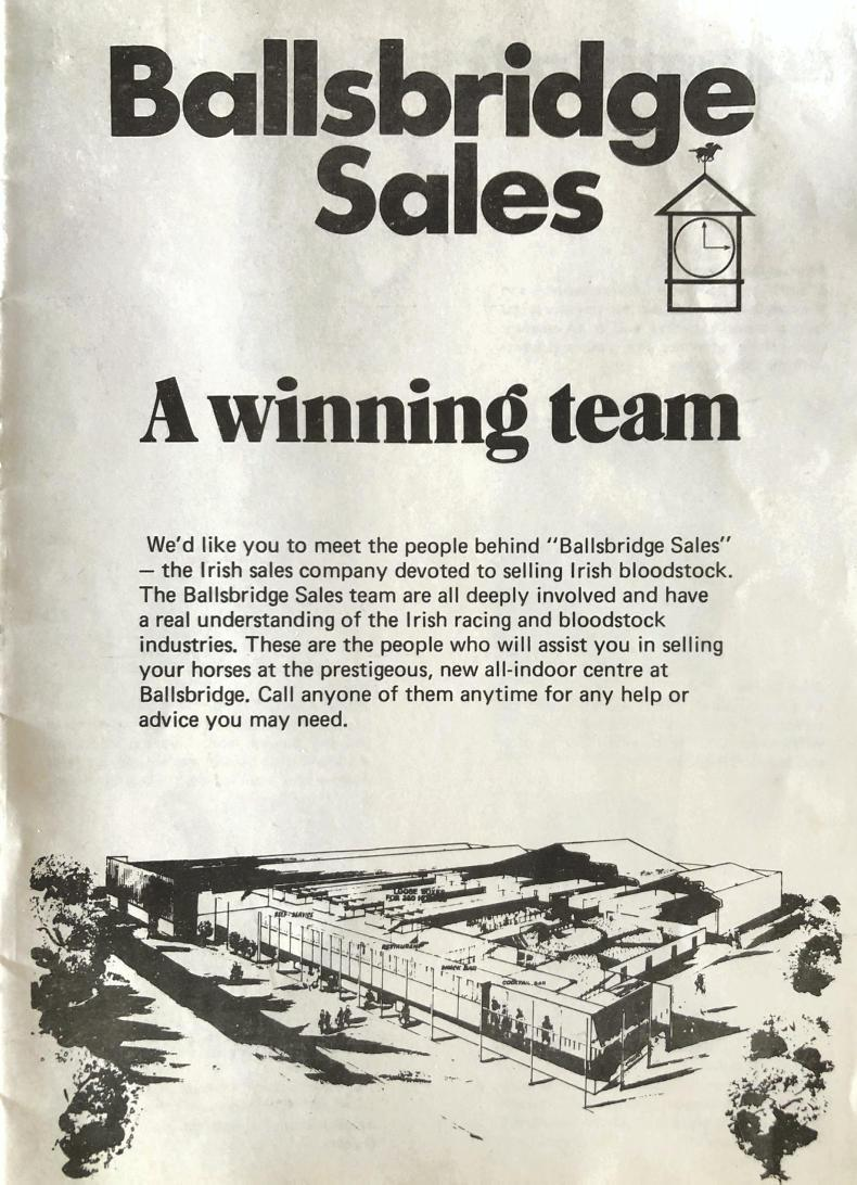 LOOKING BACK: Ballsbridge Sales opens its door for business