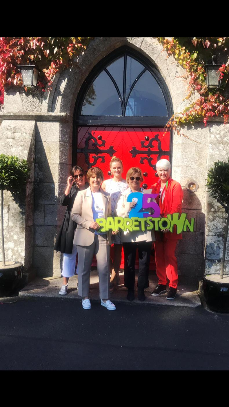 PARROT MOUTH: Barretstown ladies ready for the off