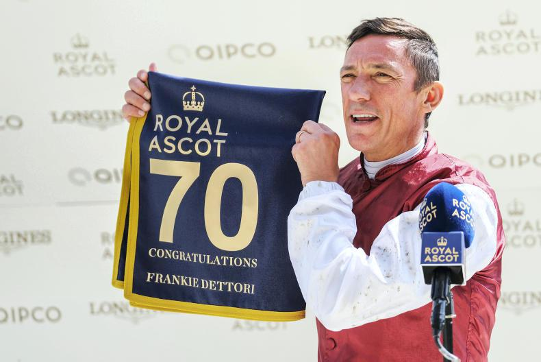 Dettori to miss York after opting to ride in France this weekend