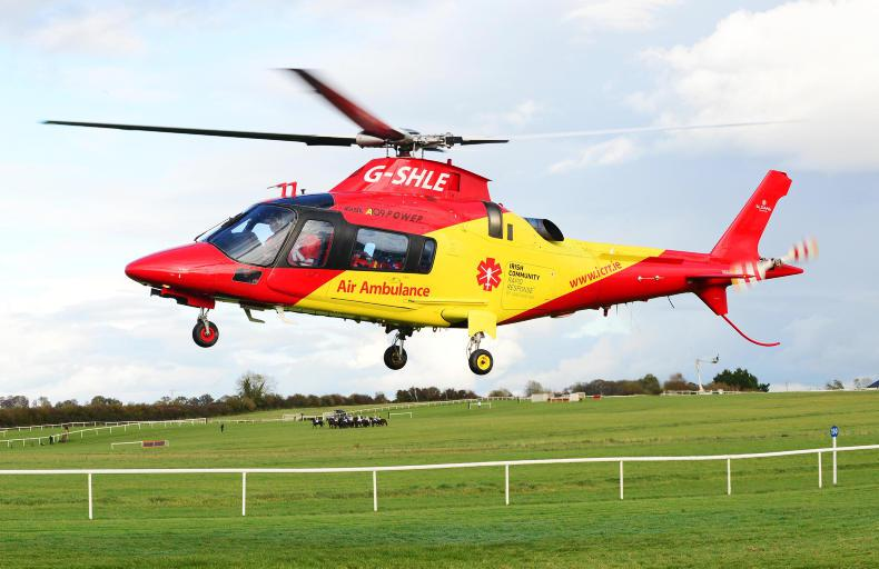 PARROT MOUTH: Coolmore back air ambulance