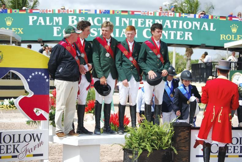 Podium finish for gallant Irish