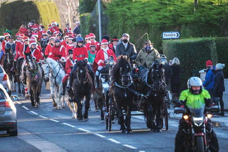 MARGIE McLOONE: Saintfield Santas ride on