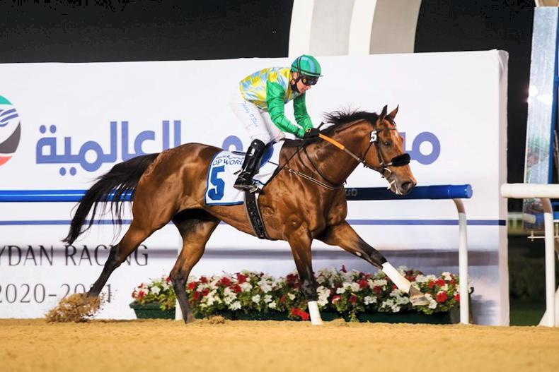 UAE: O'Shea coaxes Firebreak win from Secret Ambition