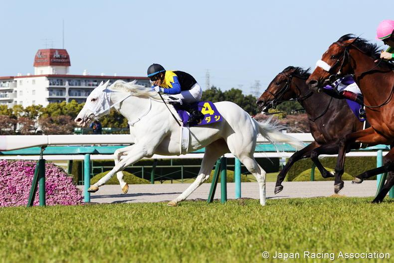 JAPAN: White filly makes racing history