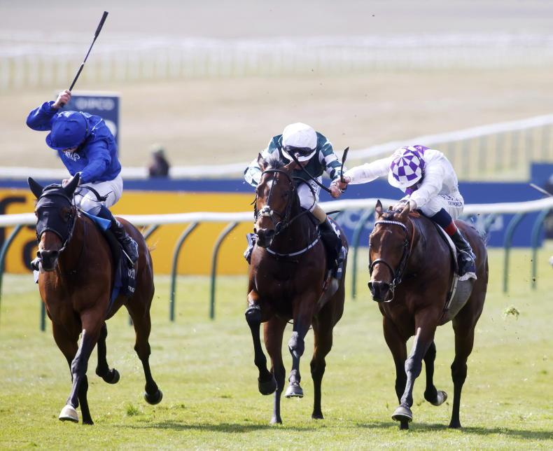 TIME WILL TELL: Flare taken to confirm placings with closest Guineas pursuers
