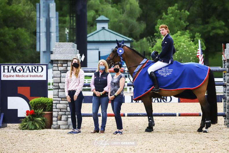 SHOW JUMPING: Coyle wins $137,000 Kentucky Grand Prix