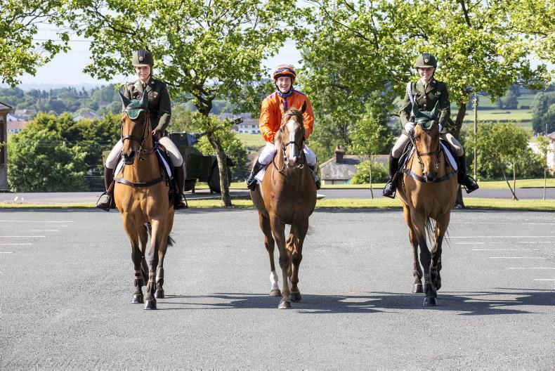 PARROT MOUTH: Curragh recognises Defence Forces