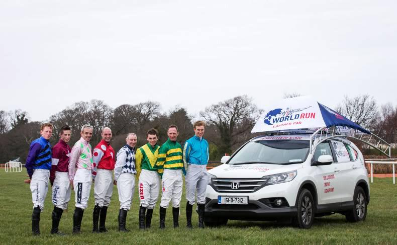 Jockeys winging it for spinal research