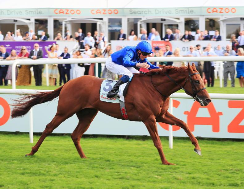 TIME WILL TELL: Hurricane shows as much speed as stamina in excellent Leger win